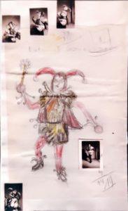 Entwurf Kostüm Gockelnarr 1954
